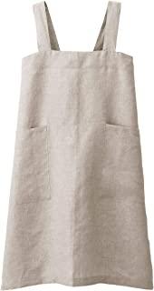 无印良品 麻平织 肩挂围裙 生成 L 长约89厘米・带布袋 82247602