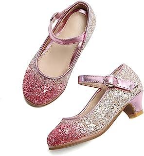 THEE BRON 幼儿小女孩低中跟连衣裙平底鞋玛丽珍高跟鞋