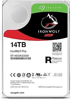 Seagate 希捷 IronWolf Pro 14 TB NAS RAID 内置硬盘 - 7200 RPM SATA 6 Gb/s 3.5 英寸 (ST14000NE008)