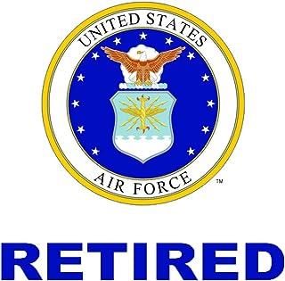 美国*退休汽车贴花美国军礼物 USAF 产品