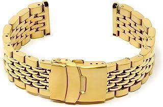 StrapsCo 不锈钢米珠手表手链表带 18 毫米 20 毫米 22 毫米