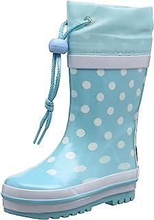 Playshoes 女童 Wellies 雨靴圆点惠灵顿橡胶