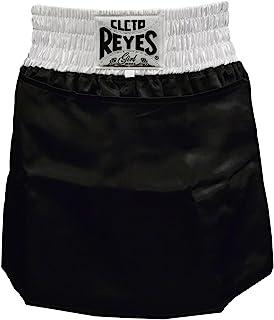 CLETO REYES 女式缎面拳击裙短裤 - 中号 - 黑色/白色