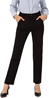 Bamans 女士正装裤商务休闲弹力工装裤带口袋直筒裤