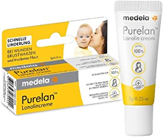 Medela 美德乐 Purelan 毛头膏,7 克,羊毛脂,快速缓解*和干燥的皮肤