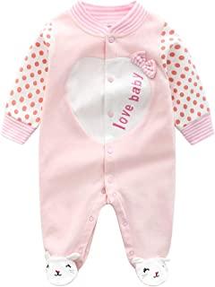 Baby One Piece Romper 柔软棉质睡衣连脚连身衣,适合 0-12 个月婴儿