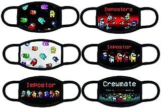 6 件套面罩,美国Impostor Game 儿童男孩和女孩巴拉克拉法帽防尘围巾可水洗可重复使用透气头巾