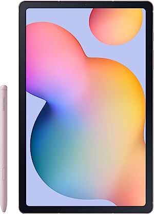 三星 Galaxy Tab S6 Lite 10.4 英寸,64GB WiFi 平板电脑雪纺玫瑰 - SM-P610NZIAXAR - 包括 S 笔