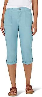 Lee 女士娇小弹性中腰工装七分裤