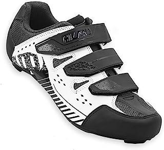 Hiland 公路自行车骑行鞋 男女适用 SPD 防滑鞋 黑色 白色