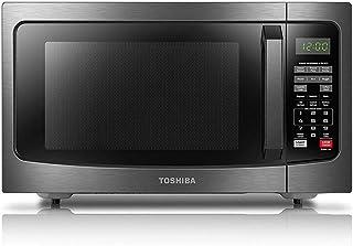 TOSHIBA em131a5°C-bs 微波炉,1.1cu. FT ,黑色不锈钢 Black Stainless Steel 1.2 立方英尺,需配变压器