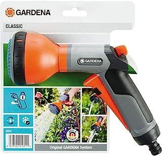 GARDENA 嘉丁拿 经典多功能喷雾器:花园喷雾器,适用于浇水床和盆栽植物,三种喷雾模式,霜冻保护,单手操作 (18313-20)