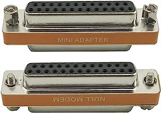 Seadream DB25 25 针 VGA SVGA KVM 母对母/F 迷你性别转换器耦合器适配器 DB25 电缆转换器 (F/F)