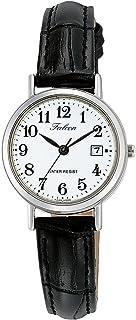 CITIZEN 西铁城 Q&Q 手表 Falcon 指针式 皮革表带 可显示日期 白色 D023-304 女款