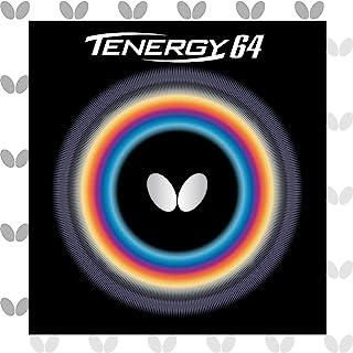 Butterfly Tenergy 64 乒乓球橡胶板 - 1.7 毫米、1.9 毫米或 2.1 毫米 - 红色或黑色 - 1 个倒置乒乓球橡胶板 - 专业蝴蝶乒乓球橡胶板