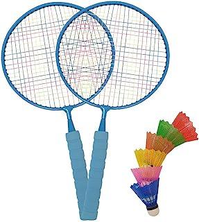 Macro 巨型羽毛球套装 带2个球拍 1个袋 儿童玩耍 后院 游乐场