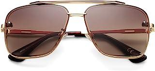 COASION Tony Stark 太阳镜服装眼镜复古方形飞行员太阳眼镜框架男女适用