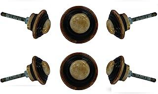 一套6个蘑菇骨橱柜抽屉旋钮优质橱柜梳妆台门拉手装饰家具五金件来自Trinca-Ferro