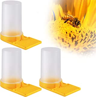 CCOZN 3 件装蜂巢养蜂饮水机,蜜蜂喂食器,蜜蜂饲养设备蜂蜜蜂巢入口喂食器巢养蜂器工具