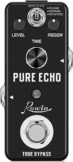Rowin Pure Echo 数字延迟吉他效果踏板 带透明 / 正常 / 反向 3 种模式 真正旁路全金属外壳