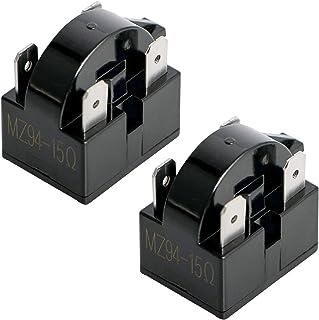 Aopin 4 针 15 欧姆冰箱 PTC 起动/起动继电器压缩机起动继电器替换零件适用于汽车冰箱、便携式冰箱、饮料、葡萄酒和啤酒冷却器、空调压缩机 2 件
