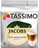 Tassimo Jacobs拿铁玛奇朵香草味,5包咖啡(5 x 8杯)