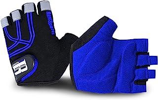 RIMSports 男式和女式自行车手套 - MTB 手套 w/超细纤维拇指 - 理想的山地自行车手套和自行车手套 - 反光自行车手套 - 高级自行车手套和骑行手套带胶垫