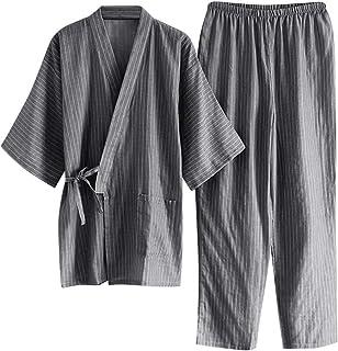 ITODA 日式浴袍和服睡衣套装女士男士礼服套装带口袋