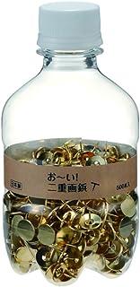 Bells !双层图钉塑料瓶容器 PBB-500 500根 金色