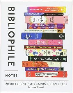 Bibliophile Note:20 种不同的记事簿和信封(书籍礼物,文具,Jane Mountain)