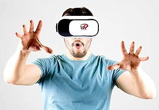 VR 耳机,VR 护目镜,虚拟现实耳机 VR 眼镜头盔 适用于 3D 视频电影游戏,适用于 Apple iPhone、Android、Samsung Sony HTC More 智能手机