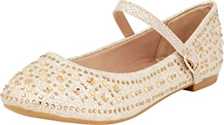 Cambridge Select 女童玛丽珍闪光水晶水钻芭蕾平底鞋(幼儿/小童/大童)