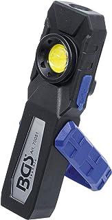 BGS 70051 | COB-LED 车间灯,带磁铁和挂钩 | 可折叠 | 电池 | 工作灯 | 车间灯 | 手电筒