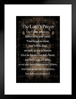 海报 都灵神祈祷励励志宗教哑光带框艺术印刷墙饰 50.8x66.04cm