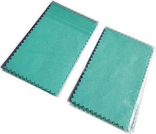 无* 100 件装 925 银抛光布,11 x 7 厘米,清洁护理工具,Plasitic Bag 单独包装,适用于珍珠金色颈链手链环