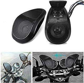 摩托车音频系统 MASO 对摩托车蓝牙音频防水带 LED 灯黑色