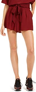 Michael Kors 迈克·科尔斯 女式 Mini Mod Dot 系带腰短裤,Dark Brandy/Black, 8
