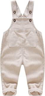 Moru 幼儿女婴男孩秋季休闲灯芯绒整体婴儿背带背带裤