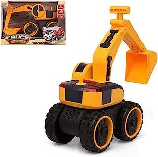 BigBuy Fun S1123951 挖掘机城市卡车工人,黄色