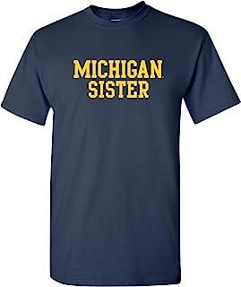 UGP 校园服装 NCAA 姐妹基本款块,球队颜色 T 恤,学院,大学 T 恤