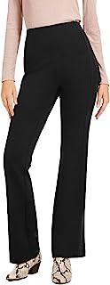 INC International Concepts 女式曲线缝线喇叭裤黑色