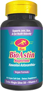 BioAstin Hawaiian Astaxanthin - MD Formulas BioAstin Supreme - 6 mg 60 VEGAN soft gels - Supports Joint, Skin, Eye Health ...
