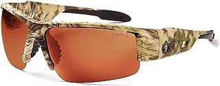 Skullerz Dagr Polarized Safety Sunglasses- Kryptek Highlander Brown Camo Frame, Copper Lens