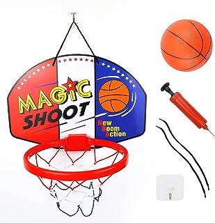 TCOTBE 室内迷你篮球圈套装。儿童玩具,篮球板,亲子运动,室内篮球。 适用于门和墙壁安装,带完整的配件篮球玩具礼品