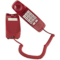 iSoHo, Trimline 有线电话 - 适用于老年人手机 - 听力障碍手机 - 深红色 - 复古新颖电话 - 19…
