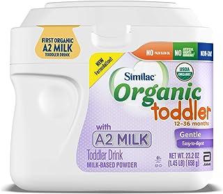 Abbott 雅培 Similac 铂优恩美力 A2奶粉,蹒跚学步儿童饮品,USDA用A2牛奶制成的学步饮品,温和且易吸收,支持眼部,粉末,1.45磅罐装,658克,6件