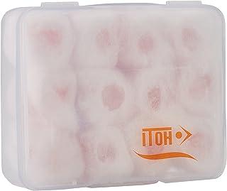 采用蜡制成的耳塞,棉质,12 个单位,舒适可塑形,防止噪音、水、风、沙子或灰尘。