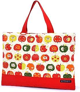 书法习字包(绗缝)绘本袋 手提 浴室包 时尚苹果的秘密(象牙色) N0223700