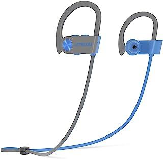 LETSCOM 无线耳塞 V5.0 IPX7 防水降噪耳机,更丰富的低音和 HiFi 立体声运动耳机 8 小时播放时间跑步耳机