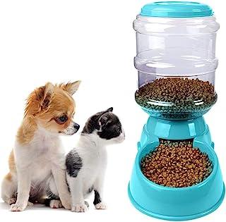 Vikano 自动补充宠物喂食器 – 狗、猫或小型宠物的重力食品站 – 1加仑(约3.8升)(喂奶器)